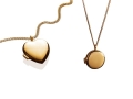 Yellow Gold Locket Necklaces